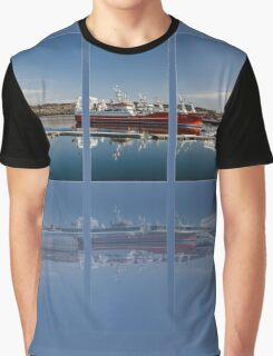 Killybegs Harbour Triptych Graphic T-Shirt