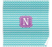 N Turquoise Poster