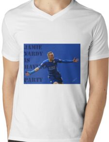 Jamie Vardy is having a party. Mens V-Neck T-Shirt
