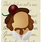 Shakespeare cupcake by Arianey