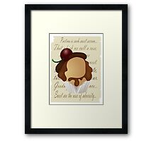 Shakespeare cupcake Framed Print