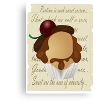 Shakespeare cupcake Canvas Print