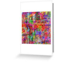 Vibrant Chaos Greeting Card