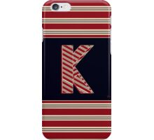 1920s Boston  Monogram  letter K iPhone Case/Skin