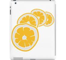 lemon cut half eat half tasty sour pattern design cool iPad Case/Skin
