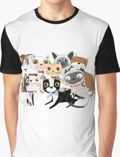 Cartoon Pets So Many Cats Cat Lover Graphic T-Shirt