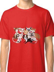 Cartoon Pets So Many Cats Cat Lover Classic T-Shirt