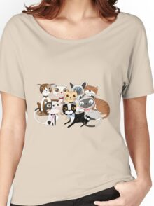 Cartoon Pets So Many Cats Cat Lover Women's Relaxed Fit T-Shirt