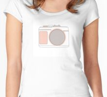 photocamera illustration Women's Fitted Scoop T-Shirt