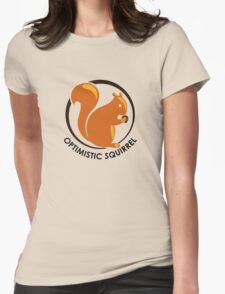 Original Brown Optimistic Squirrel Womens Fitted T-Shirt
