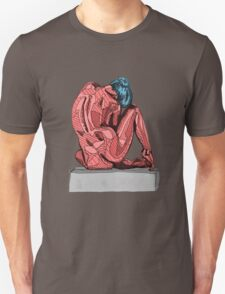Female Nude Red I T-Shirt