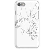 Puppet Hanging Upside Down - Line Art Only iPhone Case/Skin