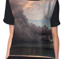 Ocean Sunset  Chiffon Top