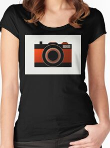 Old Camera - Metallic Geometric Art Women's Fitted Scoop T-Shirt