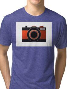 Old Camera - Metallic Geometric Art Tri-blend T-Shirt