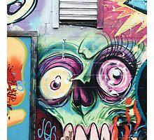 Graffiti Skull Photographic Print