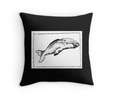 Graphic Sperm Whale Throw Pillow