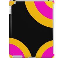 Pink Black Yellow Retro Pattern  iPad Case/Skin