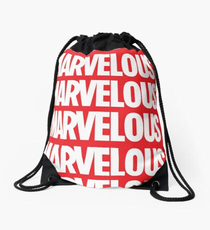 MARVELOUS DRAWSTRING BAG Drawstring Bag