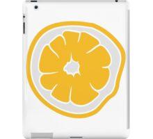 lemon cut half eat half tasty sour pattern design iPad Case/Skin