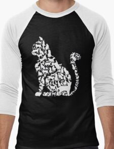 Cat in cats Men's Baseball ¾ T-Shirt