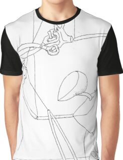 Puppet Cutting Strings - Line Art Only Graphic T-Shirt