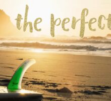 The Perfect Wave, surf art Sticker