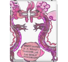 Breast Cancer Survivor Dragon iPad Case/Skin