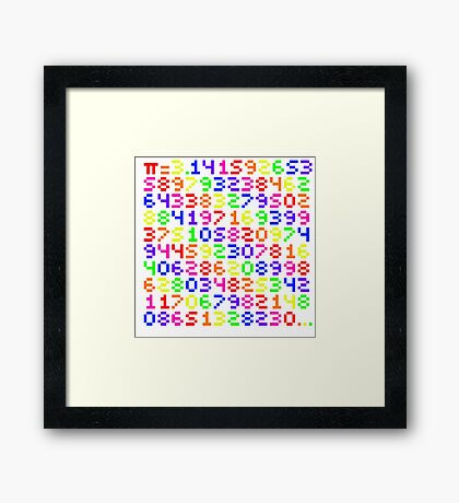 Rainbow Pi Framed Print