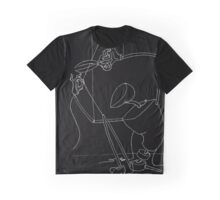 Puppet Cutting Strings - White Line Art Only Graphic T-Shirt