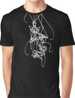 Puppet Descending - White Line Art Only Graphic T-Shirt