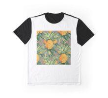 Pineapple Print Graphic T-Shirt