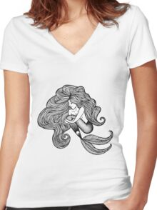 Cute Mermaid - Shauna Women's Fitted V-Neck T-Shirt