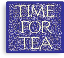 Time For Tea (Royal Blue) Canvas Print