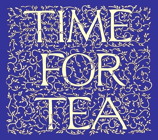 Time For Tea (Royal Blue) by Donna Huntriss
