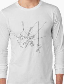 Puppet Hanging - Line Art Only Long Sleeve T-Shirt