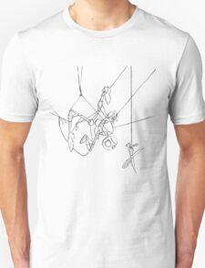 Puppet Hanging - Line Art Only Unisex T-Shirt