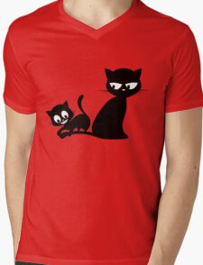 Cats Mens V-Neck T-Shirt