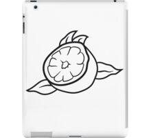 lemon cut half eat half tasty sour iPad Case/Skin