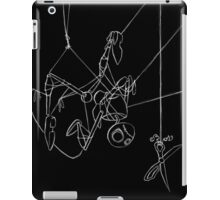 Puppet Hanging - White Line Art Only iPad Case/Skin