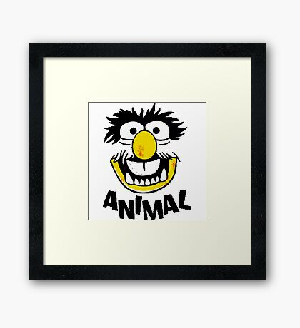 Animal Muppets Framed Print