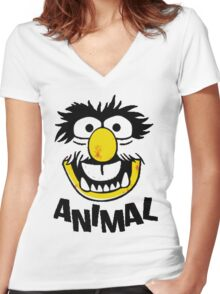 Animal Muppets Women's Fitted V-Neck T-Shirt