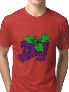 many grape grapes harvest tasty wine Tri-blend T-Shirt