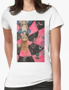 Alice Upside Down Womens Fitted T-Shirt