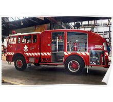 Fire truck at Melbourne Fire Museum - Australia Poster