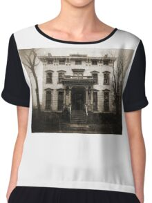 Spooky Mansion Chiffon Top
