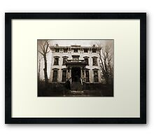 Spooky Mansion Framed Print