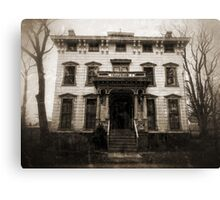 Spooky Mansion Canvas Print
