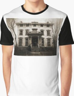Spooky Mansion Graphic T-Shirt