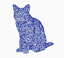 Blue Ceramic Cat Unisex T-Shirt